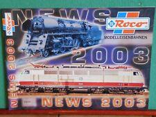 Roco Modelleisenbahnen NEWS 2003 Katalog Modelleisenbahnkatalog Catalog