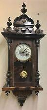 Antique Small Proportion Walnut And Ebony Victorian Vienna Clock