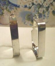 hoop earrings Silver tone rectangular