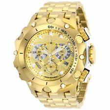 27792 Invicta Men's Reserve Quartz Chronograph 51mm Case SS Gold Bracelet Watch