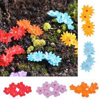 10PCS Miniature Resin Mixed Moss Flower Fairy Garden Micro Landscape Craft Decor