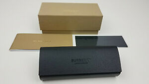 New authentic Burberry London black leather case + cleaning cloth only