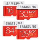 SAMSUNG EVO PLUS micro SD SDHC SDXC 256GB 128GB 64GB 32GB 16GB 80MBs LOT CLASS10