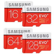 SAMSUNG EVO PLUS micro SD SDHC SDXC 256GB 128GB 64GB 32GB 100MB/s LOT 4K CLASS10