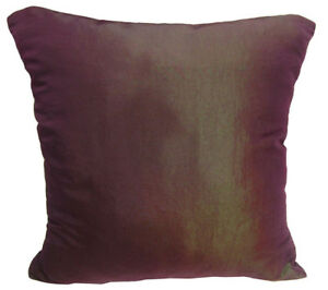 Ja125a 2 Pcs x Dp.Purple Poly Taffeta Plain Cushion/Pillow Cover*Custom Size