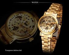 Forsining Montre Automatique  Squellette Homme Bracelet Acier Men Women Watch