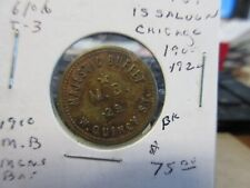 Chicago Il / Majestic Buffet Gf 5¢ In Drinks Saloon Token Bs 23mm