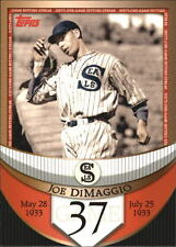 2007 Topps DiMaggio Streak Before the Streak #JDSF37 Joe DiMaggio Yankees