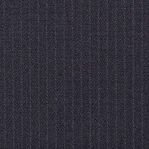 Holland and Sherry Navy Blue Narrow Pinstripe All Wool Suiting - 3.50 Mtrs