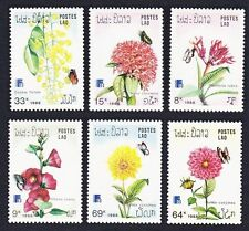 Flowers Lao Stamps