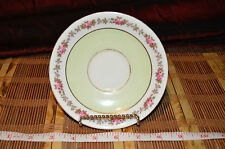 Vintage Aynsley  Saucer England Bone China Green & Pink Floral 5 5/8""