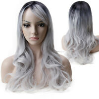 Women Long Curly Wavy Full Wig Heat Resistant Hair Cosplay Party Wigs Popular A9