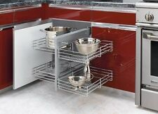 REV-A-SHELF NON-HANDED PULLOUT WIRE PULL-SLIDE-PULL BLIND CORNER CABINET OPTIMIZ