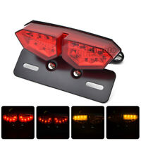 Universal Motorcycle LED Brake Turn Signal Tail Light Indicator License Plate
