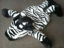 Nici Pajama Bag Zebra Black White Stripe Zipper Pouch Animal Stuff PJ Jammie EUC