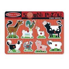 Melissa & Doug Sound Farm Animals Puzzle - 9 Pieces #0726 #726 -New