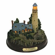 "Thomas Kinkade ""The Sea of Tranquility"" Illuminated Light House Figurine Vintage"