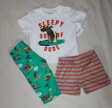 NEW~CARTERS TODDLER BOY 3 PIECE SURFING DOG PAJAMAS SIZE 5T