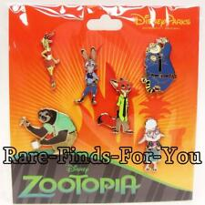 Disney Parks Zootopia 6-Pin Booster Pack Set Gazelle Judy Nick Flash More (NEW)