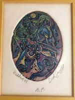 Dick Swift Color Viscosity Etching!  Stanley Hayter! Listed California Artist.