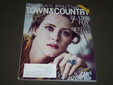 2017 OCTOBER TOWN & COUNTRY MAGAZINE - CLAIRE FOY COVER - K 1444