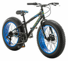 "20"" Mongoose Pug Fat Tire Bike Disc Brakes,  Black"