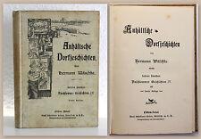 Wäschke Anhältsche Dorfjeschichten Paschlewwer Geschichten IV um 1900 Mundart xz