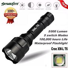5000LM Tactical C8 CREE XM-L T6 LED 18650 Flashlight 5 Mode Torch Light Lamp
