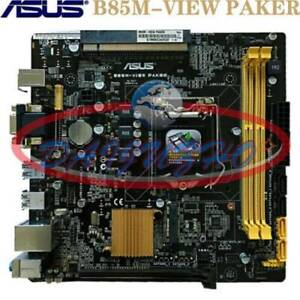 ASUS B85M-VIEW PAKER For LGA1150 Intel 4Th i7/i5/i3 CPU 21*20 B85 Micro-ATX HTPC