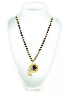 NFL Washington Redskins Beaded Necklace, *NEW*  **DISCONTINUED LOGO & NAME** WOW