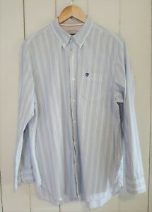 TIMBERLAND Size M Mens Long Sleeve Striped Button Up Shirt