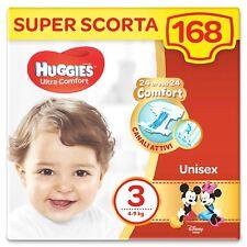 Huggies 168 Pannolini Ultra Comfort Unisex Taglia 3 (4-9 Kg) Personaggi Disney