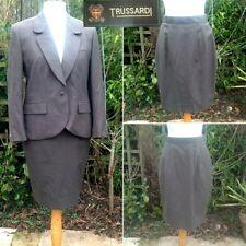 Trussardi Designer Tailored Wool Suit Jacket & 2 Skirts UK8-10 Office Work Smart