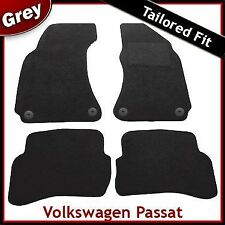 Volkswagen VW Passat B5 Round Clips 1996-2005 Tailored Carpet Floor Mats GREY