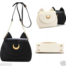 Women Sailor Moon Shoulder Bag Cosplay Handbag Messenger Luna Cat Ear Chain Tote