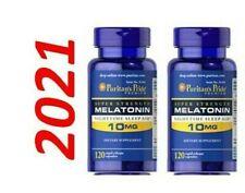 Melatonina 10MG Super Forte Addormentato Aiuto Pillole 2 x 120 = 240 USA Molto