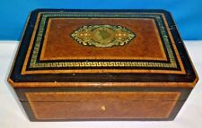 Antique European inlay Wooden Handmade Jewelry Box - With lock & Key