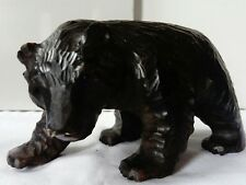 ANTIQUE BLACK FOREST AUSTRIAN LIMEWOOD BEAR WITH GLASS EYES VGC