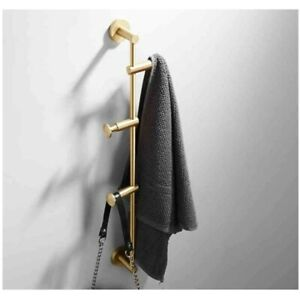 Solid Brass Coat Rack Free Adjustment Wall Mount Coat Hooks Clothes Handbags New