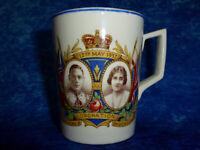 Vintage King George VI Queen Elizabeth Coronation 1937 Mug / Cup ART DECO STYLE