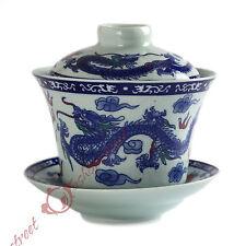 NEW 130ml Chinese JingDe GongFu Tea Porcelain Dragon & phoenix Gaiwan teacup Cup