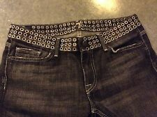 Seven For All Mankind Jeans-Sz 29-Dark Blue Acid-Cotton Blend-Inseam 33.5-Low