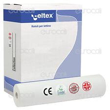 Rotolo Carta Lettino 60cmx80m Celtex Lenzuolino Medico 2 Veli Estetista Cera