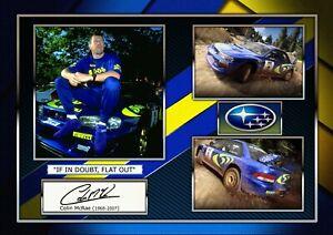 Colin McRae - Subaru World Rally - Signed Autograph Photo Print Memorabilia