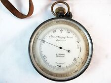 ANEROID COMPENSATOR BAROMETER, IMPROVED ANEROID COMPENSATED, SOLD BY N H SEWARD
