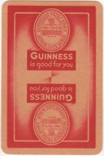 Playing Cards 1 Single Swap Card Old Vintage GUINNESS EXTRA STOUT Brewery ADV 2