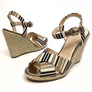 ✅❤️✅$ Cole Haan Hart - Women's Open Toe Wedge Sandals Buckle - 8 B Platforms NWB