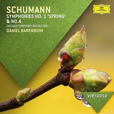 Schumann Symphonies Nos. 1 & 4 Chicago Symphony Orchestra Daniel Barenboim Ne