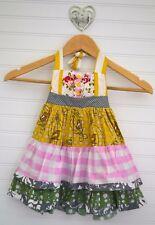 Little Girls BE GIRL Clothing Sz 18m Patchwork Tiered Ruffle Halter Dress