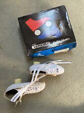 Women's white roller skates, size 9
